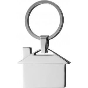 Ház formájú fém kulcstartó